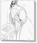 Queen Victoria Sketch Metal Print