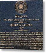 Queen's Campus - Commemorative Plaque Metal Print