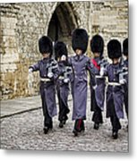 Queens Guard Metal Print