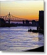 Queensboro Bridge At Night - Manhattan Metal Print
