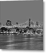 Queensboro Bridge 59th Street Nyc Bw Metal Print
