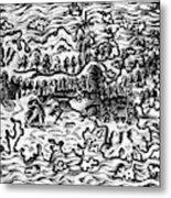 Queiros Voyages, 1613 Metal Print
