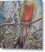 Quetzal On A Limb Metal Print