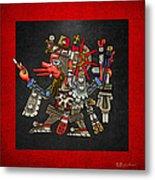 Quetzalcoatl In Human Warrior Form - Codex Borgia Metal Print