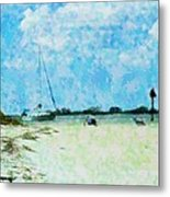 Quiet Beach Day Metal Print