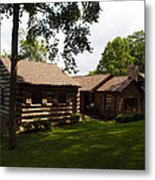 Quiet Cabin On A Hill Metal Print