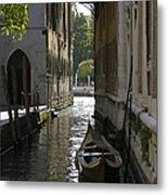 Quiet Canal In Venice Metal Print