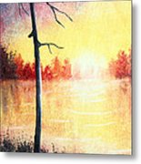 Quiet Evening By The River Metal Print