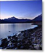 Quiet Night By The Lake Metal Print