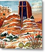 Quiet Snowfall  Sedona  Arizona Metal Print
