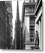 Quiet Sunday On Wall Street Metal Print