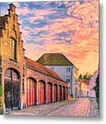 Quiet Village Sunset Metal Print
