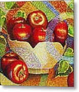 quilted Apples Metal Print