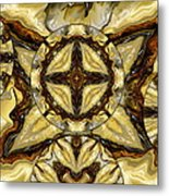 Quilted Cream Metal Print