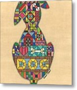 Quilted Dog Metal Print