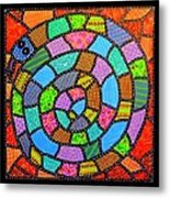 Quilted Spiral Snake Metal Print