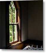 Quilting By Window Light Metal Print