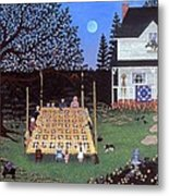 Quilting In The Country Metal Print