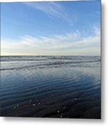 Quinault Beach Patterned Reflection Metal Print