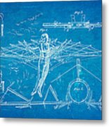 Quinby Flying Apparatus Patent Art 1872 Blueprint Metal Print