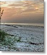 Quite Time On The Beach Metal Print