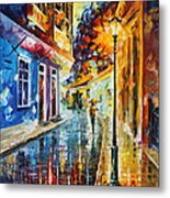 Quito Ecuador - Palette Knife Oil Painting On Canvas By Leonid Afremov Metal Print