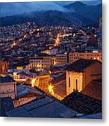 Quito Old Town At Night Metal Print
