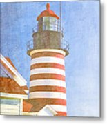 Quoddy Lighthouse Lubec Maine Metal Print