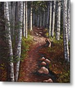 Quoddy Trail Close Crop Metal Print