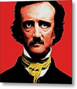 Quoth The Raven Nevermore - Edgar Allan Poe - Electric Metal Print by Wingsdomain Art and Photography