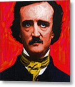 Quoth The Raven Nevermore - Edgar Allan Poe - Painterly Metal Print by Wingsdomain Art and Photography