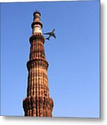 Qutab Minar Minaret - New Delhi - India Metal Print