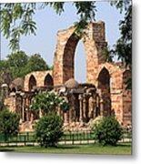 Qutab Minar Ruins Metal Print