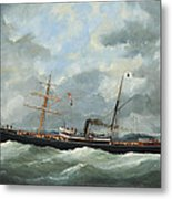 R. Bell And Co.s Steamship Bothal In A Heavy Swell Metal Print