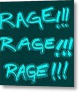 R R R Turquoise Metal Print