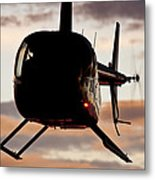 R44 At Sunset Metal Print