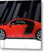 R8 In Red Metal Print by Alan Look