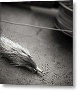 Rabbit Strip Fly Metal Print