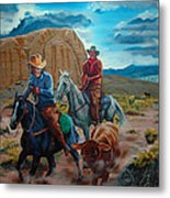 Rabbitbrush Round-up Metal Print