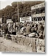 Race Cars Crown Point Indiana June 19 1909 Metal Print