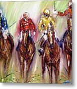 Irish Racehorses Available As A Signed And Numbered Print See Www.pixi-.com Metal Print