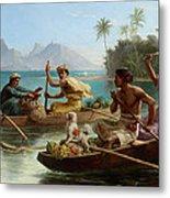 Race To The Market Tahiti Metal Print