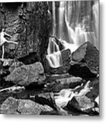 Rachel At Beartooth Falls Metal Print