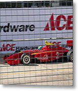 Racing At Reliant Metal Print