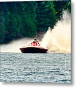 Racing Speed Boat Metal Print
