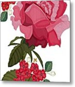 Rad Pink And Red Rose Metal Print