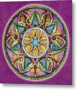 Radiant Health Mandala Metal Print