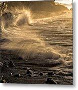 Radiant Sunrise Surf Metal Print