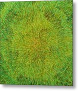 Radiation With Green Yellow And Orange  Metal Print
