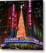 Radio City At Christmas Time - Holiday And Christmas Card Metal Print